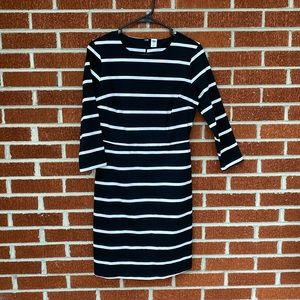 NWOT Black and white striped dress size S